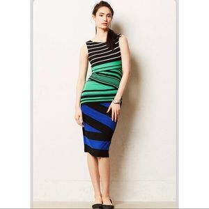 Anthropologie Bailey 44 Piped Stripe Column Dress